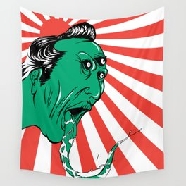 Green Yokai Wall Tapestry