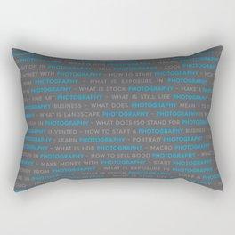 Blue Photography Keywords Text Rectangular Pillow
