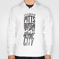 pittsburgh Hoodies featuring Pittsburgh Steelers by Sciulli