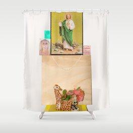 SANTO, SANTO, SANTO? Shower Curtain