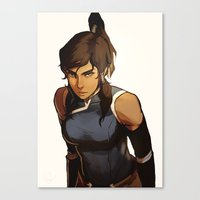 returns Canvas Prints featuring Korra Returns by Caleb Thomas