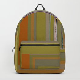Anomaly in Brown Stripes graphic design Backpack