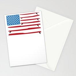 Shaka Paddle Boarding flag USA Stationery Cards