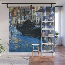 "Édouard Manet ""The grand canal of Venice (Blue Venice)"" Wall Mural"