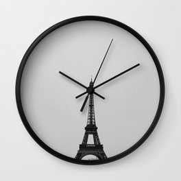 Eiffel Tower from afar Wall Clock