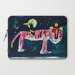 Toucan and Tiger in the Night Sky Painting Laptop Sleeve