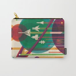 Retro Space Poster - The Grand Tour Carry-All Pouch