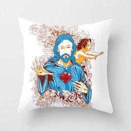 Love of god christ Throw Pillow