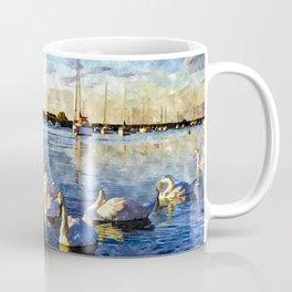 Serene Swans Watercolor  Coffee Mug