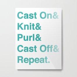 Knitting - Helvetica Ampersand Style Metal Print