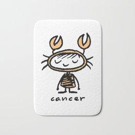 crabby cancer cutie pie Bath Mat