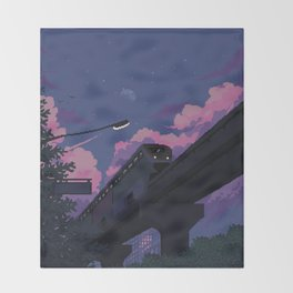 Moonrise twilight Throw Blanket