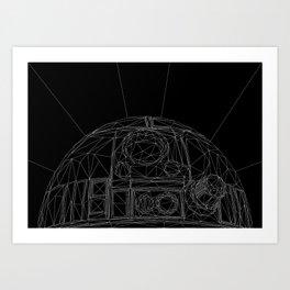 R2-SP4C3-R0B0T-D2 Art Print
