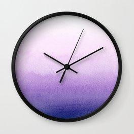 Purple watercolor texture Wall Clock