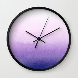 Purple Watercolor Design Wall Clock
