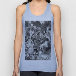 AnimalArtBW_Wolf_20170605_by_JAMColorsSpecial Unisex Tank Top