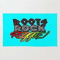 reggae Area & Throw Rugs featuring Roots Rock Reggae by Marvin Porcher