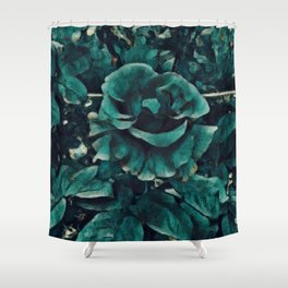 Blue Rose - Painting Style - Art Gift Shower Curtain