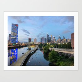 Philly blues Art Print