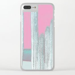 Cactus Pink Clear iPhone Case
