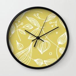 Golden Gooseberries Wall Clock
