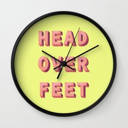 3D HEAD OVER FEET Wall Clock