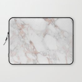 Rose Gold Marble Blush Pink Metallic Foil Laptop Sleeve