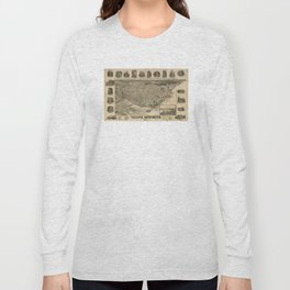Vintage Pictorial Map of Tacoma WA (1893) Long Sleeve T-shirt