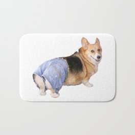 Corgi, Apple Bottom Jeans Bath Mat