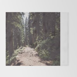 Entering the Wilderness - Landscape and Nature Photography Throw Blanket