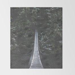 Lynn Canyon Suspension Bridge Throw Blanket