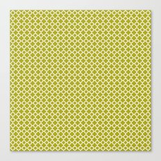 Quatrefoil Lime Canvas Print