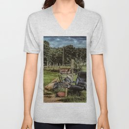 Country Home Office Unisex V-Neck