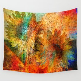 sunflower vintage Wall Tapestry