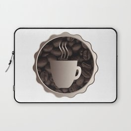 Roasted Coffee Cup Sign Laptop Sleeve