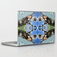 merlin Laptop & iPad Skins featuring Desert Merlin by Filip Klein