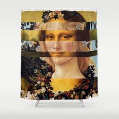 Leonardo's Mona Lisa & Botticelli's Flora Shower Curtain