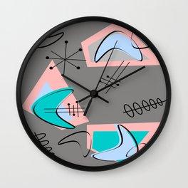 Atomic Era Inspired Boomerangs Wall Clock