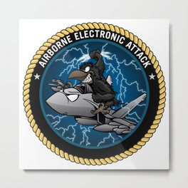 Airborne Electronic Attack EA-18 Growler Cartoon Metal Print