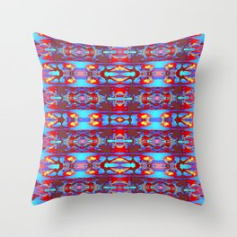 Pattern on blue  1 Throw Pillow