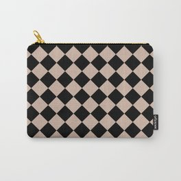 Brown black plaid Carry-All Pouch