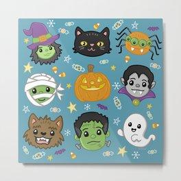 Spooky Doodles Metal Print