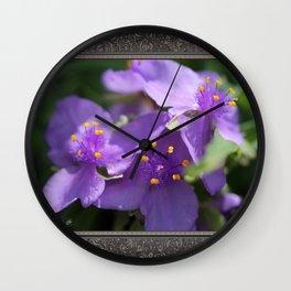 Tradescantia named Blue Stone Wall Clock