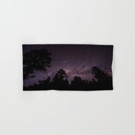 Busy Sky - Shooting Stars, Planes and Satellites in Colorado Night Sky Hand & Bath Towel