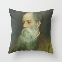 Evelyn De Morgan - Portrait John Roddam Spencer Stanhope Throw Pillow