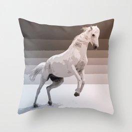 The White Horse Throw Pillow