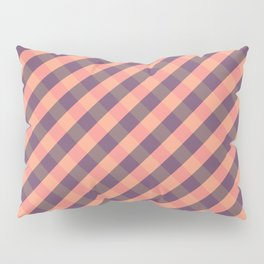 Coral plaid Pillow Sham