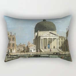 Venice: S. Simeone Piccolo by Follower of Canaletto Rectangular Pillow