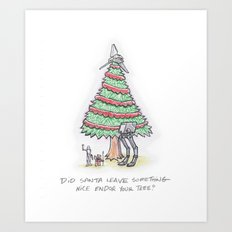Did Santa Leave Something Nice Endor Your Tree? Art Print