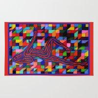 onward Area & Throw Rugs featuring Onward and Upward by Ana Lillith Bar